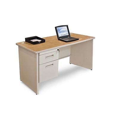 Marvel® Pronto® 48in. x 30in. Single Pedestal Desk; Oak/Pumice