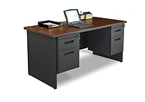Marvel® Pronto® 60' x 30' Double Pedestal Desk; Mahogany/Dark Neutral
