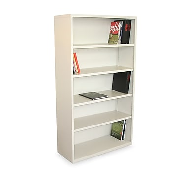 Marvel® Ensemble® 65in. x 36in. x 14in. Five Shelf Bookcase, Putty
