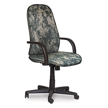 Marvel® Allegra® Fabric High-Back Executive Chairs W/Loop Arms & Knee Tilt