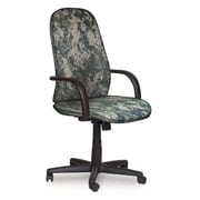 Marvel® Allegra® Fabric High-Back Executive Chair W/Loop Arms & Knee Tilt, ACU Digital Camo