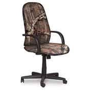 Marvel® Allegra® Fabric High-Back Executive Chair W/Loop Arms & Knee Tilt, Mossy Oak®