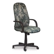 Marvel® Allegra® Fabric High-Back Executive Chair W/Loop Arms & Swivel Tilt, ACU Digital Camo