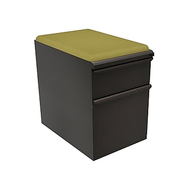 Marvel® Zapf® Dark Neutral 23in. Box/File Mobile Pedestals W/ Seat
