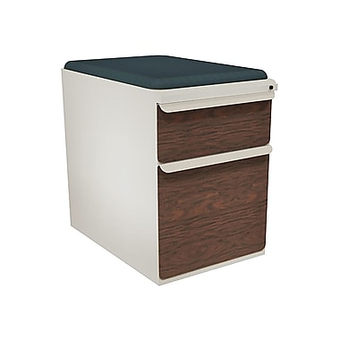 Marvel® Zapf® 23in. 2-Drawer Mobile Pedestal Files with Seat Cushion, Featherstone/Collector's Cherry Front, Fennel