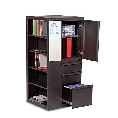 Marvel® Ensemble® 52in. x 24in. x 24in. Steel Personal Storage Shelf Tower W/Left Closet, Dark Neutral