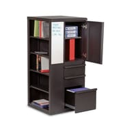 Marvel® Ensemble® 52 x 24 x 24 Steel Personal Storage Shelf Tower W/Left Closet, Dark Neutral