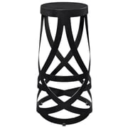 Modway Ribbon Aluminum Bar Stool, Black