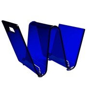 Modway Transparent Acrylic Current Magazine Holder, Blue