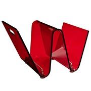 Modway Transparent Acrylic Current Magazine Holder, Red