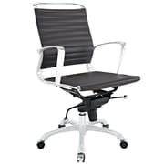 Modway EEI-1026-BRN Tempo Vinyl Mid-Back Executive Chair with Adjustable Arms, Brown