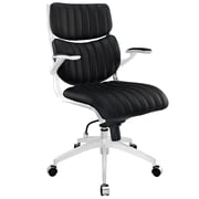 Modway Escape Leatherette Mid Back Office Chair, Black