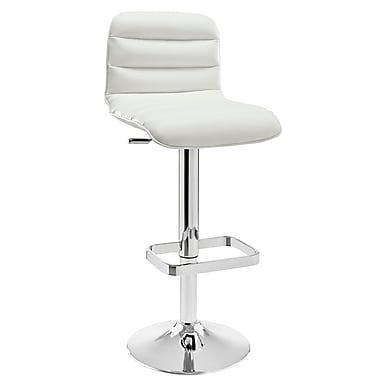 Modway Ripple Padded Vinyl Bar Stool, White