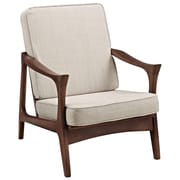 Modway Canoe Wood Lounge Chair, Brown