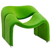 Modway Cusp Fabric Lounge Chair, Green