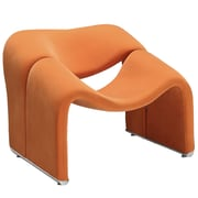 Modway Cusp Fabric Lounge Chair, Orange