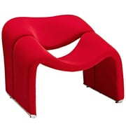 Modway Cusp Fabric Lounge Chair, Red