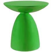 Modway 23 x 23 1/2x 23 1/2 Fiberglass Flow Side Table, Green