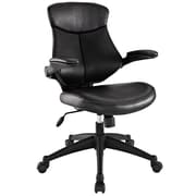 Modway Stealth Leatherette Mid Back Office Chair, Black