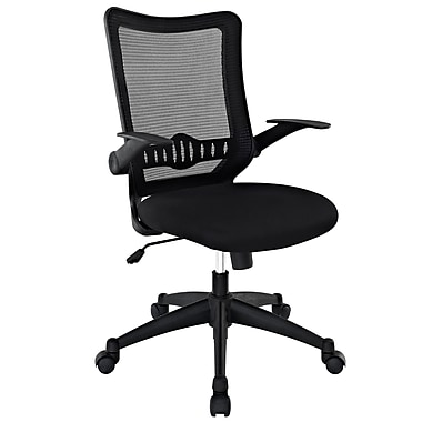 Modway EEI-1104-BLK Explorer Fabric Mid-Back Executive Chair with Adjustable Arms, Black