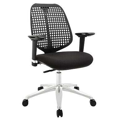 Modway Reverb Molded Padded Foam Mid Back Office Chairs With Adjustable Armrests