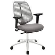 Modway Reverb Molded Padded Foam Mid Back Office Chair With Adjustable Armrests, Gray