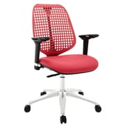 Modway Reverb Molded Padded Foam Mid Back Office Chair With Adjustable Armrests, Red