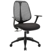 Modway Reverb Molded Padded Foam Mid Back Office Chair, Black