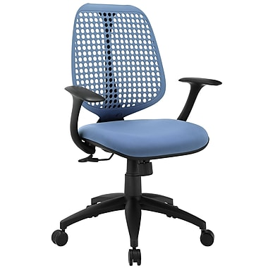 Modway EEI-1174-BLU Reverb Fabric Mid-Back Task Chair with Fixed Arms, Blue