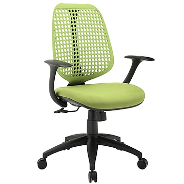 Modway EEI-1174-GRN Reverb Fabric Mid-Back Task Chair with Fixed Arms, Green
