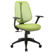 Modway Reverb Molded Padded Foam Mid Back Office Chair, Green