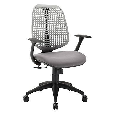 Modway Reverb Mid-Back Fabric Task Chair, Fixed Arms, Gray