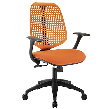Modway Reverb Molded Padded Foam Mid Back Office Chair, Orange