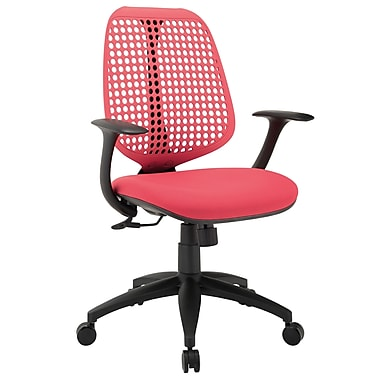 Modway EEI-1174-RED Reverb Fabric Mid-Back Task Chair with Fixed Arms, Red