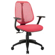 Modway Reverb Molded Padded Foam Mid Back Office Chair, Red