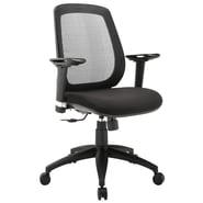 Modway Cruise Foam Padded Mid Back Office Chair With Adjustable Armrest, Black