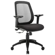 Modway EEI-1175-BLK Cruise Fabric Mid-Back Task Chair with Adjustable Arms, Black