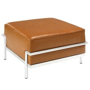 Modway Charles LC3 Grande Padded Leather Ottoman, Tan