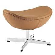 Modway Glove Genuine Leather Ottoman, Terracotta