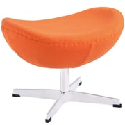 Modway Glove Wool Ottoman, Orange