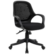 Modway Arrow Polyester Padded Mid Back Office Chair, Black