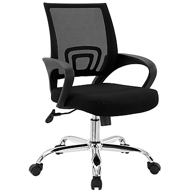 Modway Zoom Foam Padded Mid Back Office Chair, Black