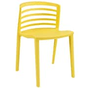 Modway Curvy Plastic Dining Side Chair, Yellow