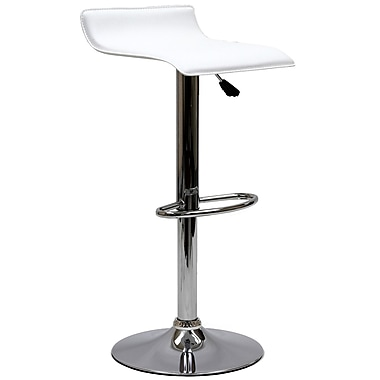 Modway Gloria Leatherette Bar Stool, White