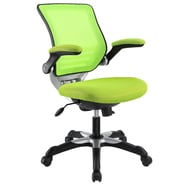 Modway Edge Mesh Fabric/Sponge Mid Back Office Chair, Green