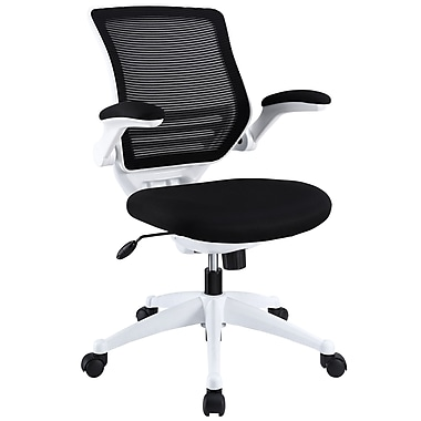 Modway EEI-596-BLK Edge Mesh Mid-Back Task Chair with Adjustable Arms, Black