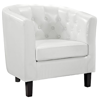 Modway Cheer Padded Vinyl Armchair, White 975585