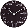 Modway Metal Quiz Wall Clock, Black