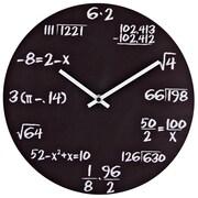Modway Metal Quiz Wall Clock, Black