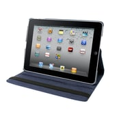 Natico 60-IA360-NBL Faux Leather Folio Case for Apple iPad Air, Navy Blue
